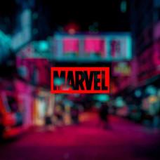 """Наклейка на авто """"Marvel"""""""