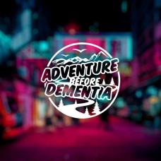 "Наклейка на авто ""Adventure before Dementia"""