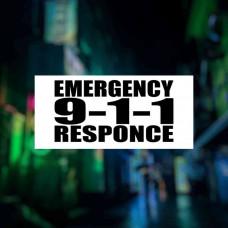 "Наклейка на авто ""Emergency Responce"""