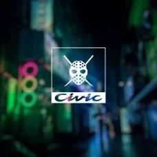 """Наклейка на авто """"Civic"""""""