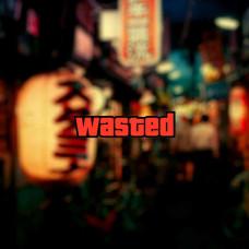 """Наклейка на авто """"Wasted"""""""