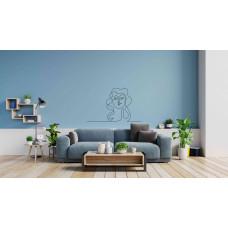 """Наклейка на стену """"Зарисовка мультяшной девушки"""""""