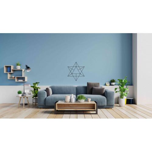 """Наклейка на стену """"Фигура - перевернутые треугольники"""""""
